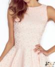 Pöttyös púder  női elegáns ruha