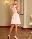 Elegáns csipke  púder női ruha