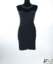 Fekete-ezüst csillámos alkalmi női ruha