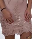 Púder flitteres álomszép női mini ruha