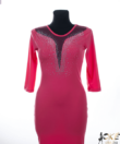 Korall strasszos alkalmi női ruha
