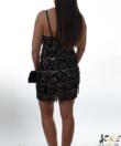 Fekete-arany flitteres party ruha