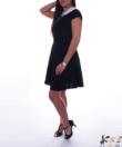 Fekete A vonalu női ruha
