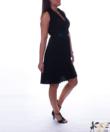 Fekete átlapolt női ruha