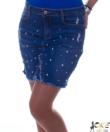 Szupersztreccs kék strasszos gyöngyös farmer miniszoknya