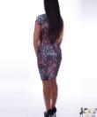 Párduc mintás női ruha