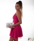 Pink tüll alkalmi női ruha