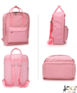 Anna Grace rózsaszín iskola táska, hátizsák 38 cm