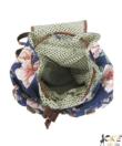 Virág mintás retró női vászonhátizsák