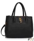 Anna Grace fekete női divatos táska díszlakattal