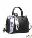 Miss Lulu fekete elegáns táska kendővel