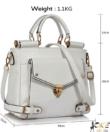 Anna Grace fehér női divatos táska