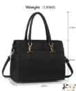 Anna Grace fekete női divatos táska
