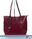 Miss Lulu piros oil-wax bőr női táska