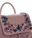 David Jones rózsaszín hátizsák virágos hímzett