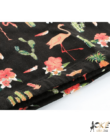 Fekete flamingós női divatos tornazsák