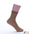 Lineaoro testszínű mintás női bokaharisnya Valencia