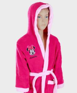 Minnie pihe puha wellsoft gyermek köntös pink