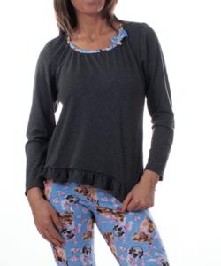 Kék kutyusos női pamut pizsama