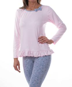 Kék csillagos női pamut pizsama