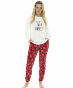 Női pihe-puha wellsoft pizsama Karácsony mintás