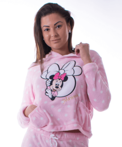 Minnie pihe-puha női wellsoft pizsama kapucnis