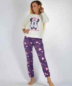 Minnie pihe-puha női wellsoft pizsama fehér