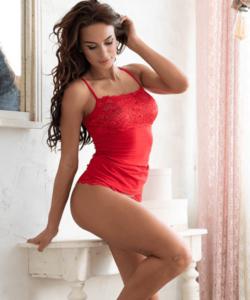 Lagoon piros csipkés női atléta