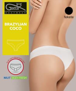 Gatta fekete női brazil bugyi Coco