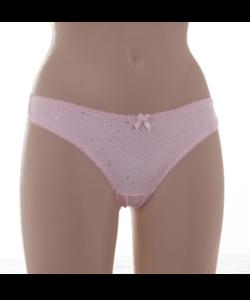 Lemila női rózsaszín csipkés brazil bugyi