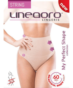 Lineaoro bézs alakformáló fehérnemű tanga elise string