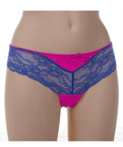 Lemila pink kék csipkés női bugyi