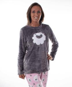 Barikás női pihe-puha wellsoft pizsama