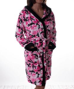 Pink terep mintás pihe puha wellsoft női köntös