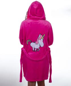 Pink unikornis pihe puha wellsoft női köntös