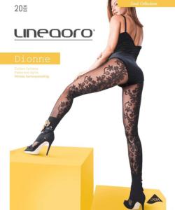 Lineaoro mintás fekete harisnyanadrág 20d Dionne
