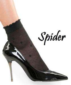 Lineaoro fekete mintás női bokafix Spider