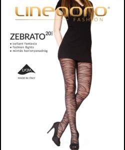 Lineaoro fekete harisnyanadrág Zebrato