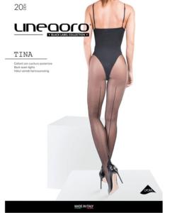 Lineaoro fekete hátul varrott női harisnyanadrág 20d Tina