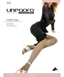 Lineaoro arany mintás női harisnya nadrág 50d Cortina