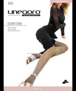 Lineaoro arany mintás női harisnyanadrág 50d Cortina