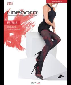Lineaoro fekete mintás női harisnyanadrág 50d  Estelle