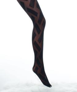Lineaoro fekete lurex mintás női harisnyanadrág 20d Gloss