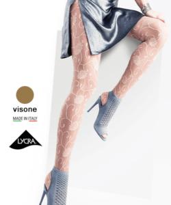 Lineaoro mintás harisnya test színű Grazia