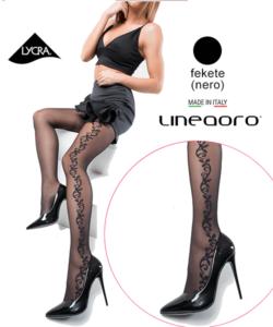 Lineaoro fekete harisnyanadrág Sabrina