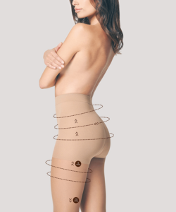 Fiore kompressziós bézs harisnya nadrág confort 20den