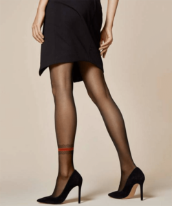 Fiore Modo fekete mintás harisnyanadrág 20D