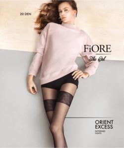 Fiore Orient Excess fekete combfix mintás harisnya nadrág 20D