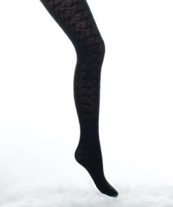 Lineaoro winter fekete mintás akril harisnya nadrág