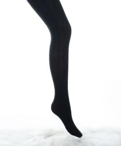 Lineaoro winter fekete hópihe mintás akril harisnyanadrág